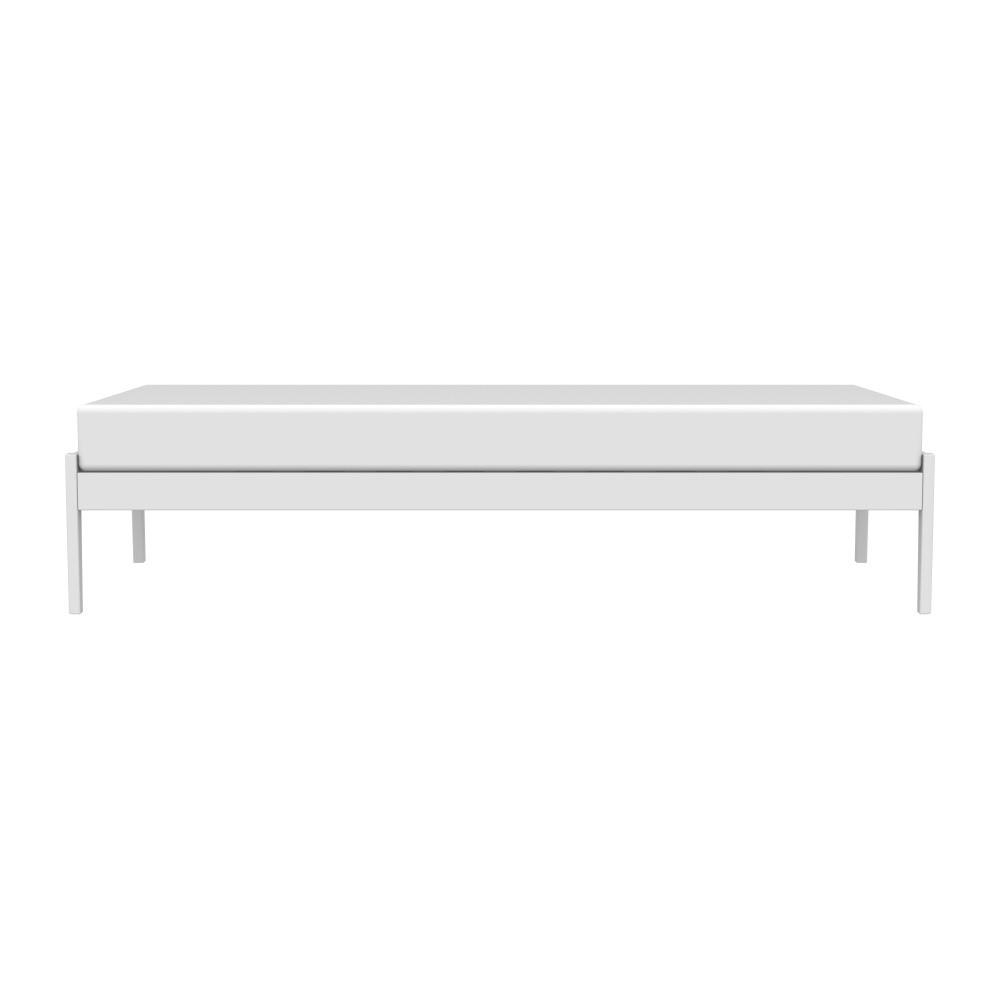 Biely rám postele z masívneho brezového dreva Kiteen Avanti, 85 × 206 cm
