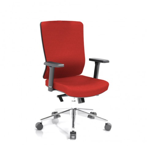 Rauman Kancelárska stolička Vella, červený sedák aj opierka chrbta VELLA BF B14
