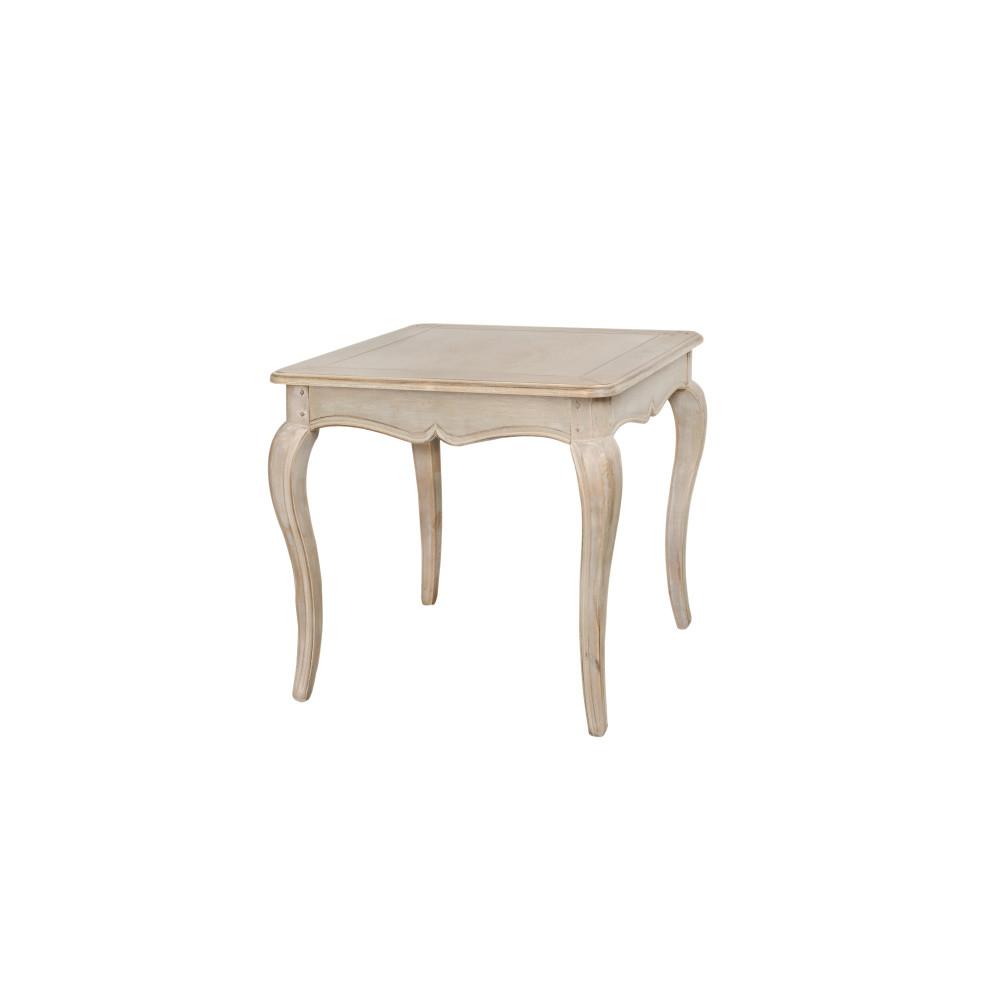Béžový príručný stolík z brezového dreva Livin Hill Venezia