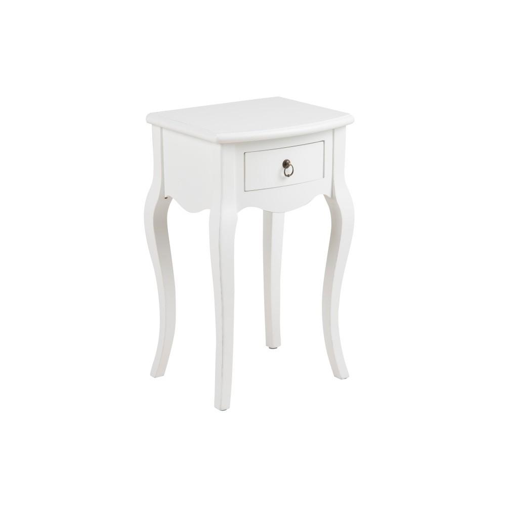 Biely nočný stolík Actona Carikko
