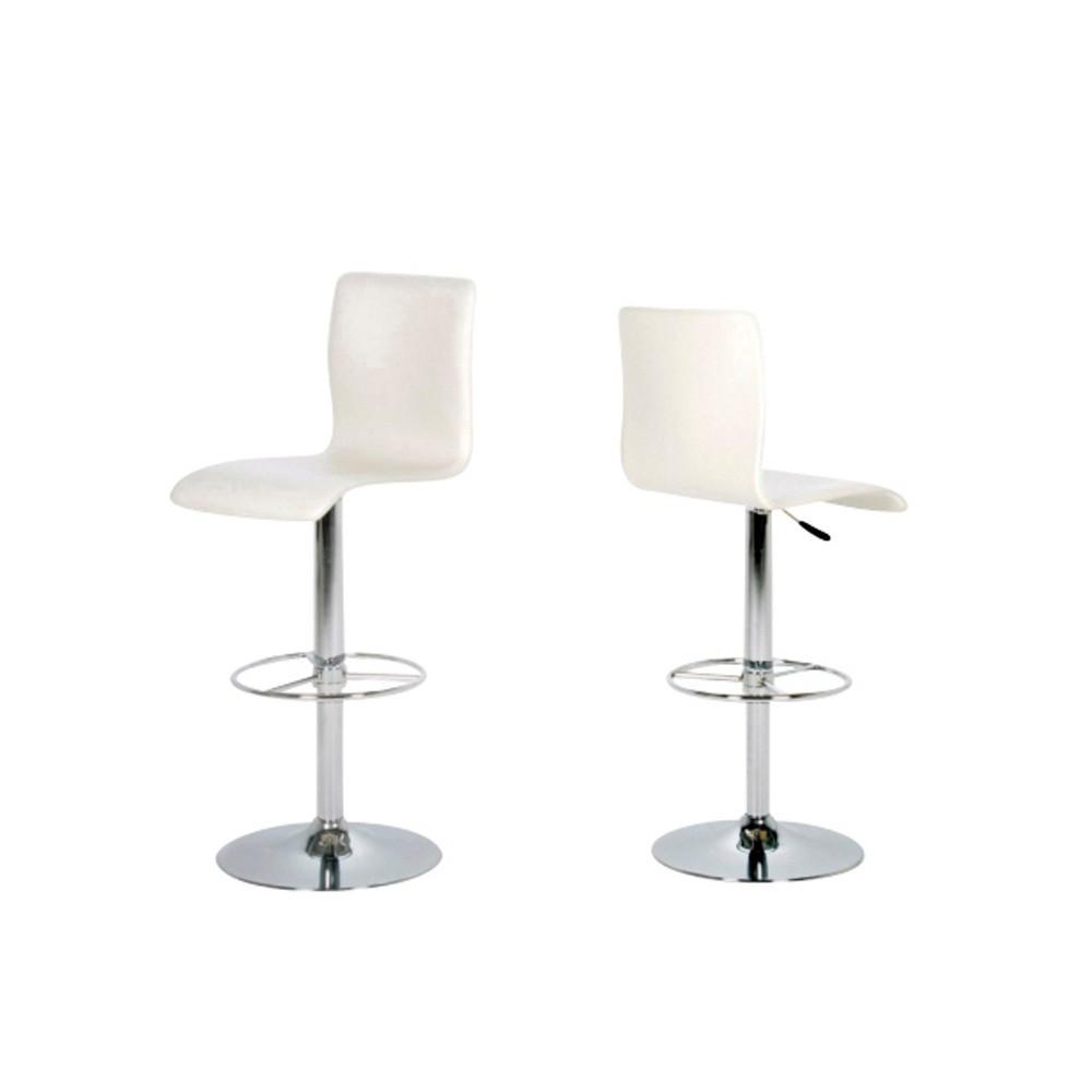 Sada 2 bielych barových stoličiek Actona Aze