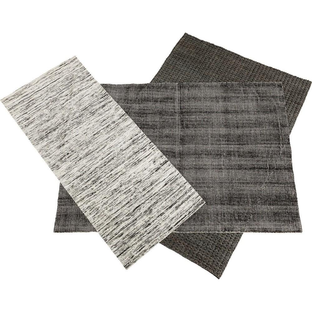 Čierno-biely koberec Kare Design Collage, 365 x 315 cm