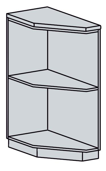 ARTEMIS/VALENCIA dolný šikmý roh 30DRK, biely