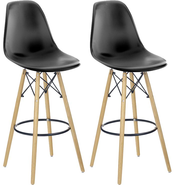 Set 2ks. barových stoličiek H51 (čierna) *výpredaj