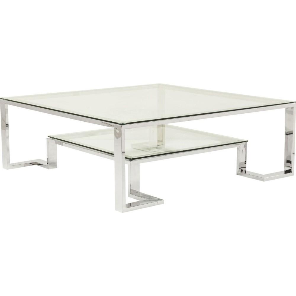 Sklenený konferenčný stolík Kare Design Silver Rush