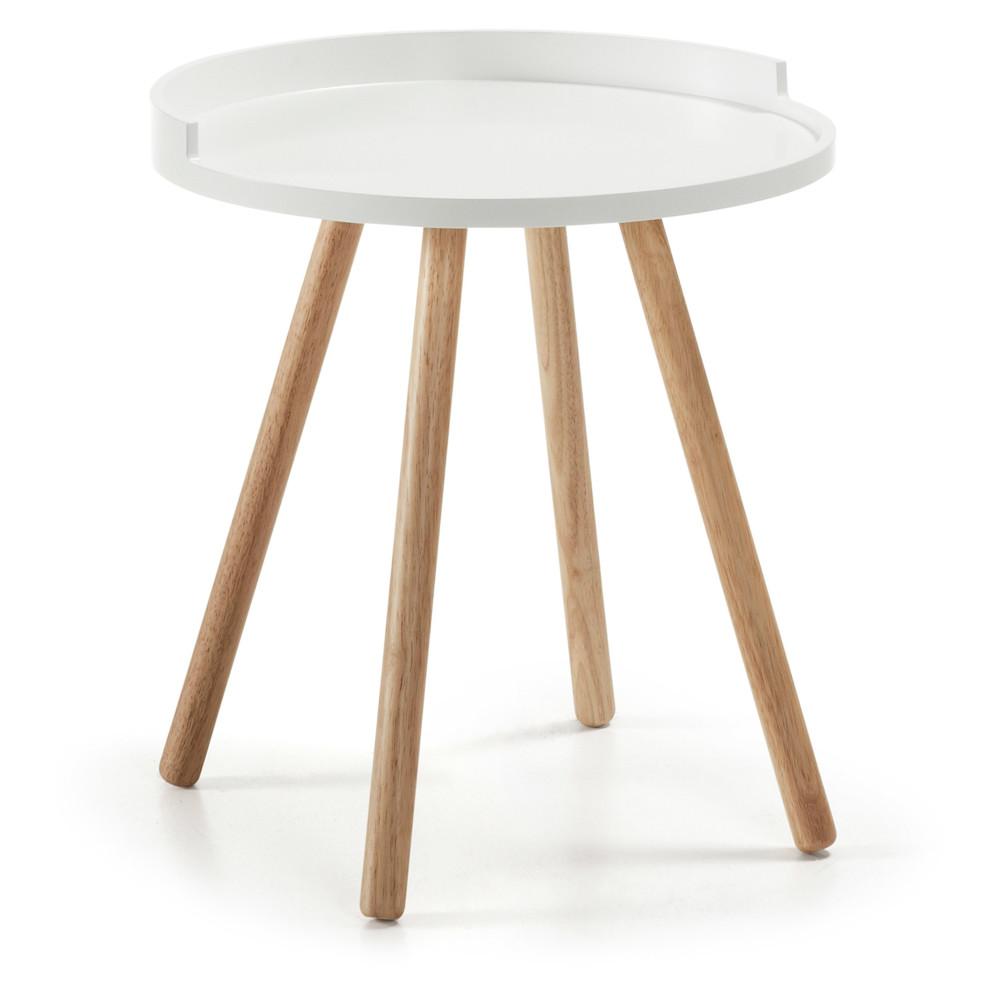 Biely odkladací stolík La Forma Bruk, 46cm