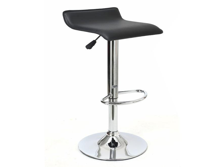 Barová stolička Laria (čierna + chróm)