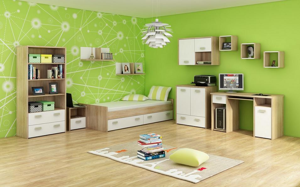Detská izba KITTY 3   Farba: Dub sonoma svetlá / biela