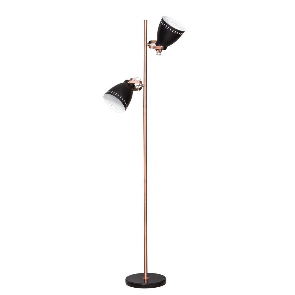 Čierno-medená stojacia lampa ETH Acate Jay