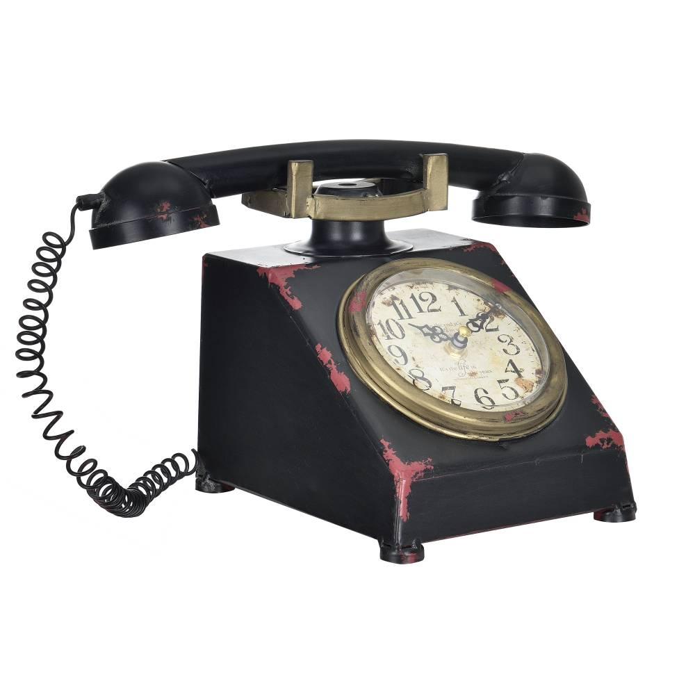 [en.casa]® Stolové hodiny v tvare telefónu - analógové - 33 x 20 x 19 cm - farebné