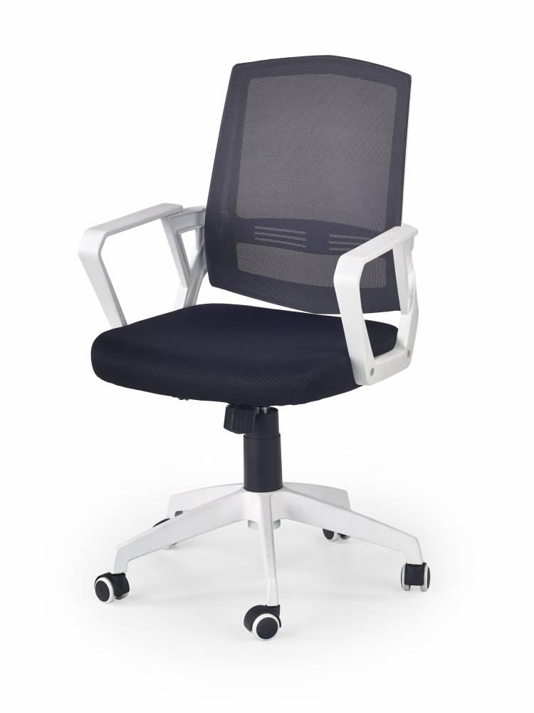 Kancelárska stolička Ascot (čierna + biela + sivá)