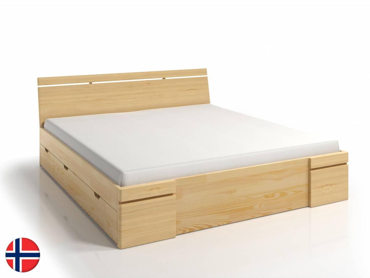 Manželská posteľ 140 cm Naturlig Bavergen Maxi DR (borovica) (s roštom a úl. priestorom)