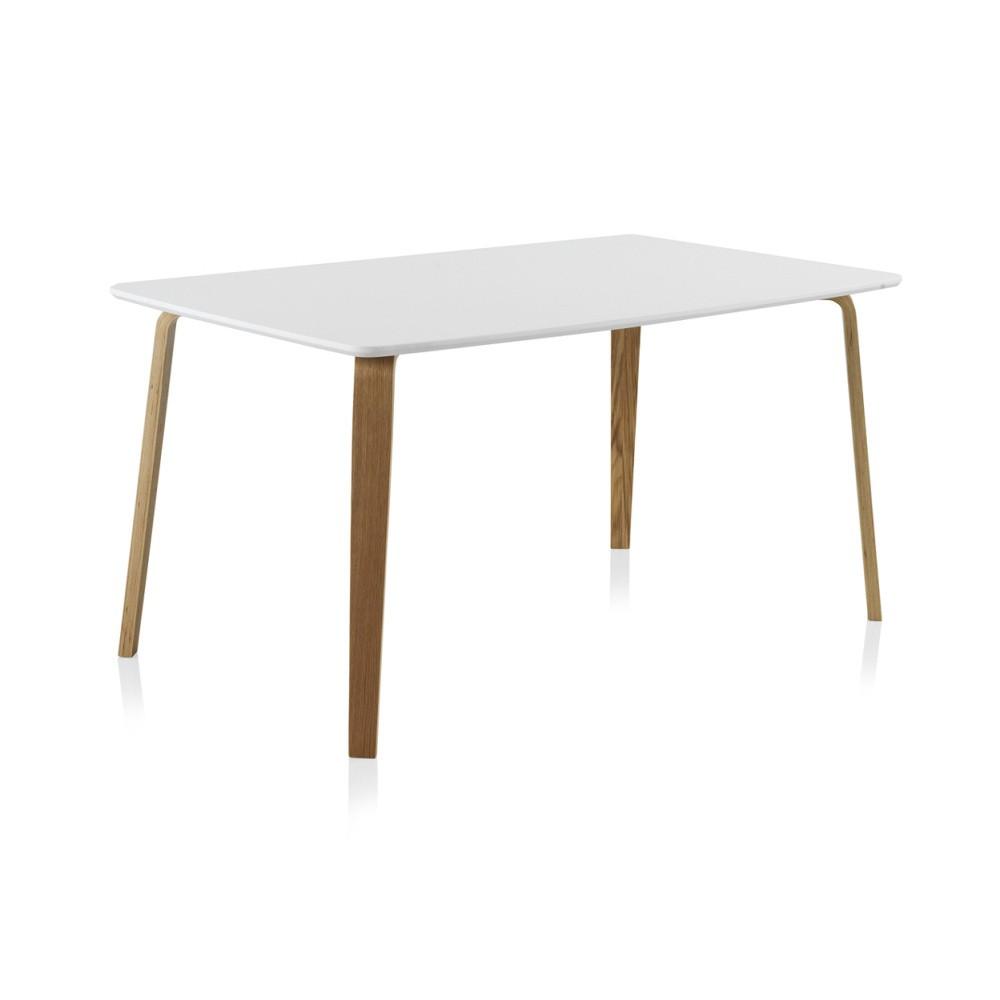 Biely jedálenský stôl Geese, 150 x 90 cm