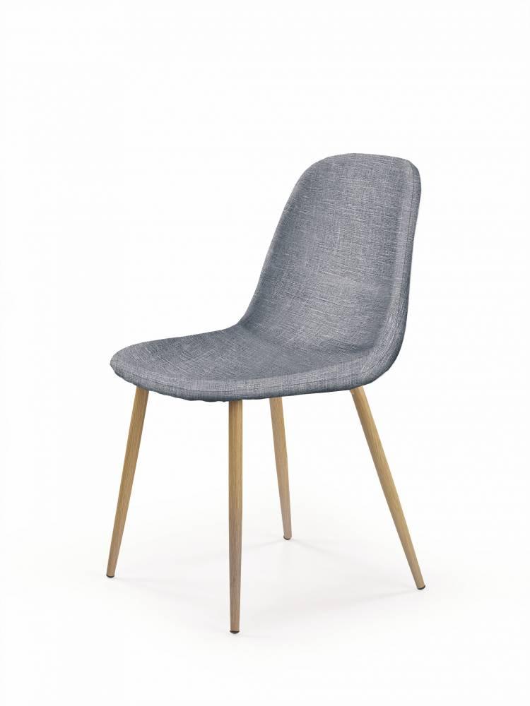Jedálenská stolička K220 (sivá + dub medový)