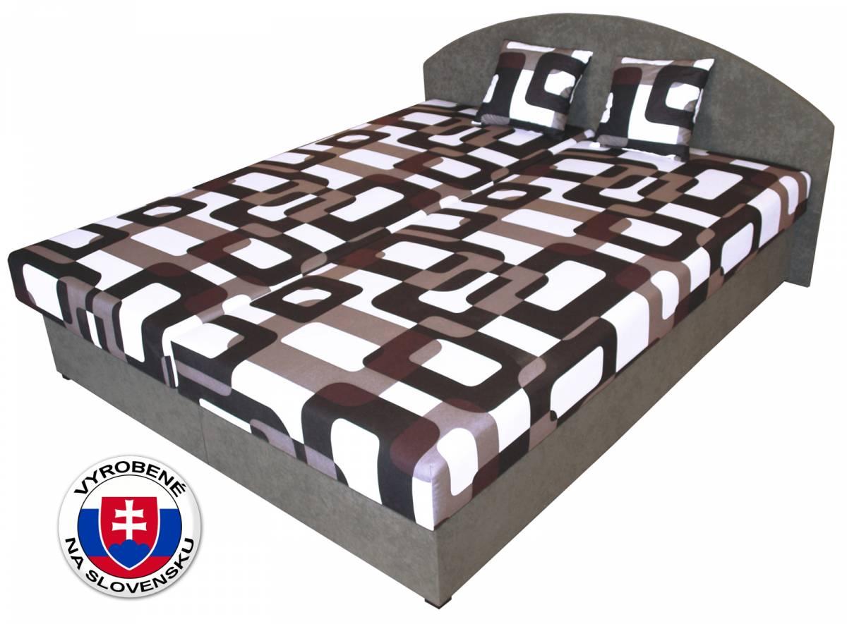 Manželská posteľ 160 cm Benab Sara (s roštami a matracmi)