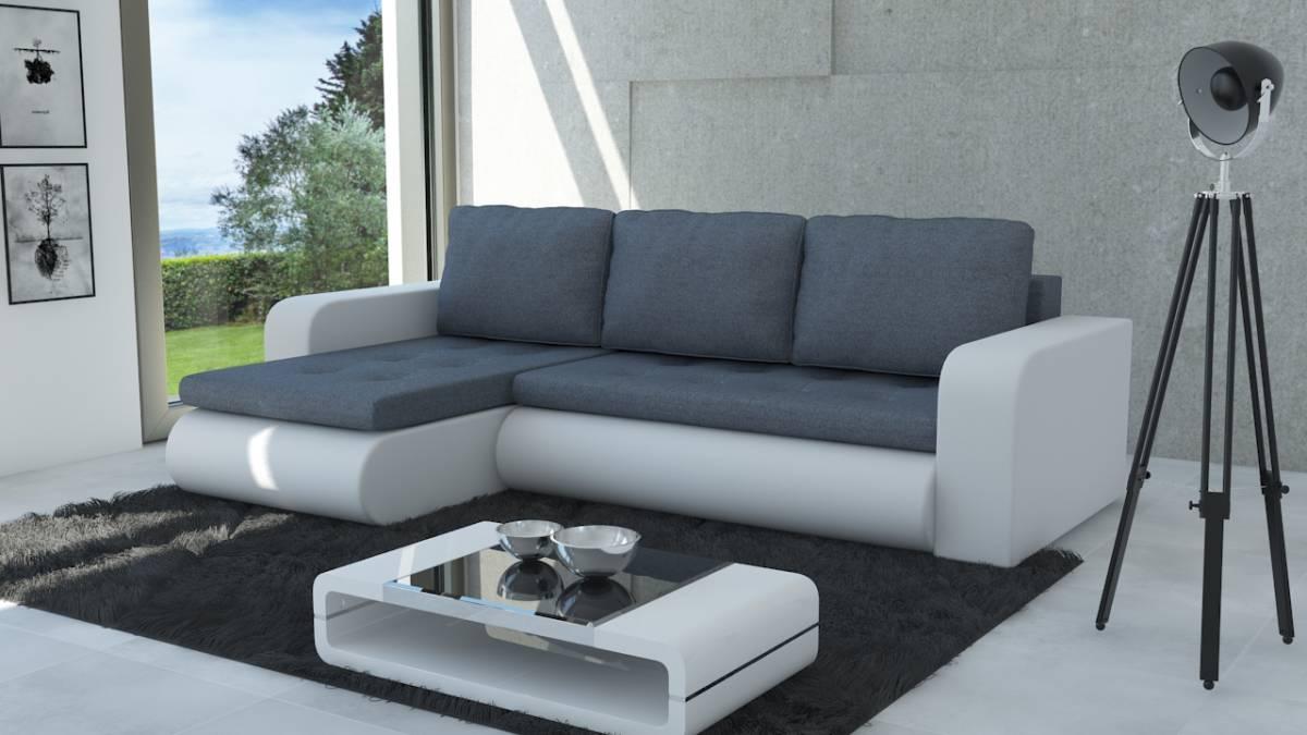 Moderná sedačka NEWYORK šedá/biela