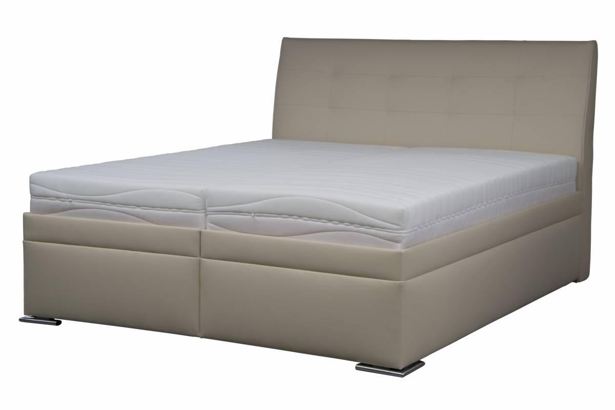 Manželská posteľ 180 cm Blanár Lambada 1 (béžová) (s roštom a matracmi)
