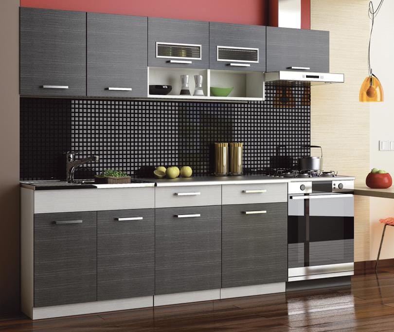 Kuchyňa Moreno II 240 cm (grafit bis) MOB-4119