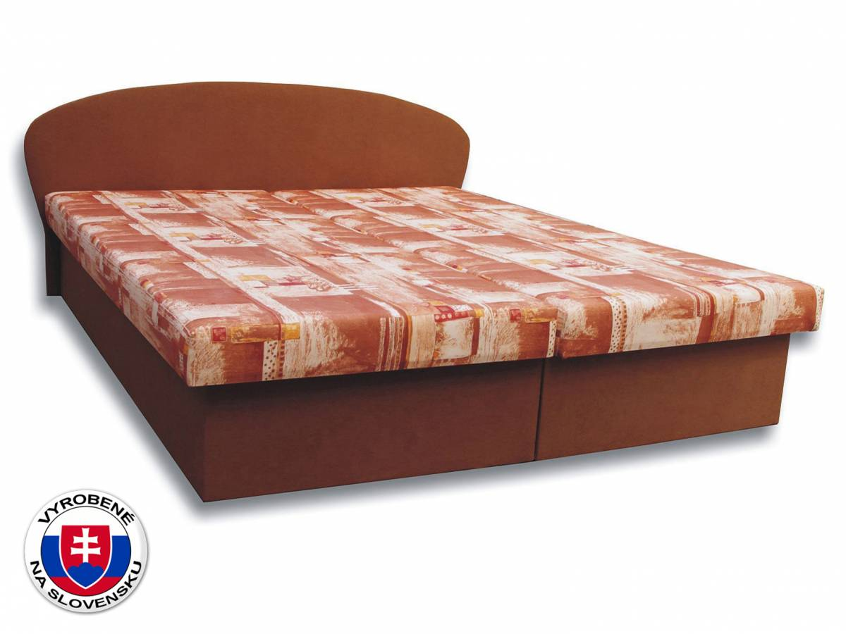 Manželská posteľ 160 cm Milka 3 (s penovými matracmi)