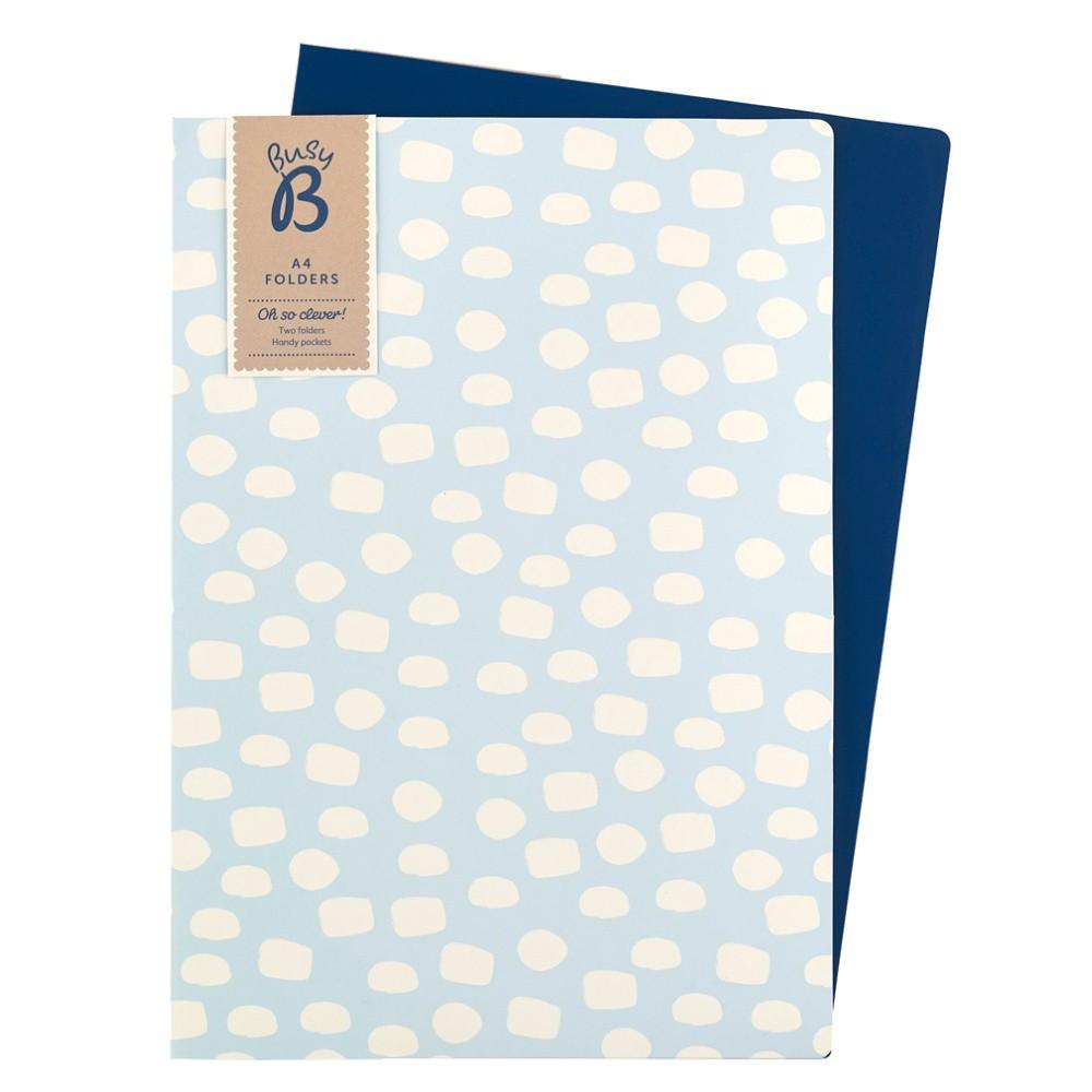 Sada 2 modrých zložiek na dokumenty Busy B