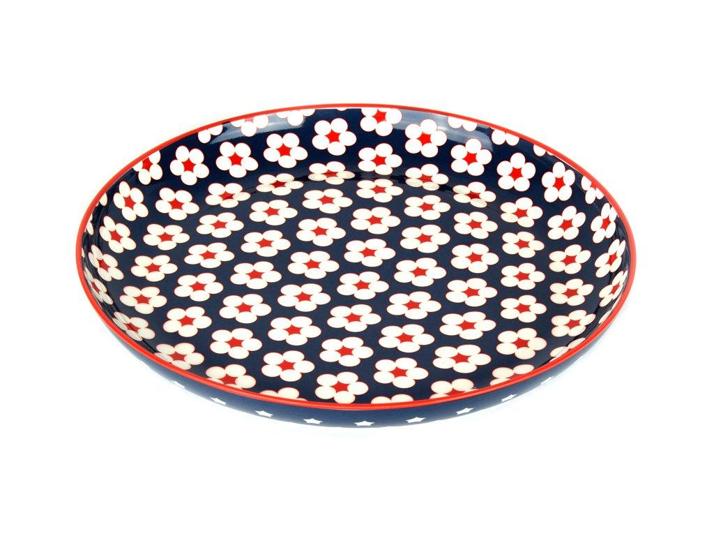 Plytký tanier Cotton Bud tmavomodrý 23 cm