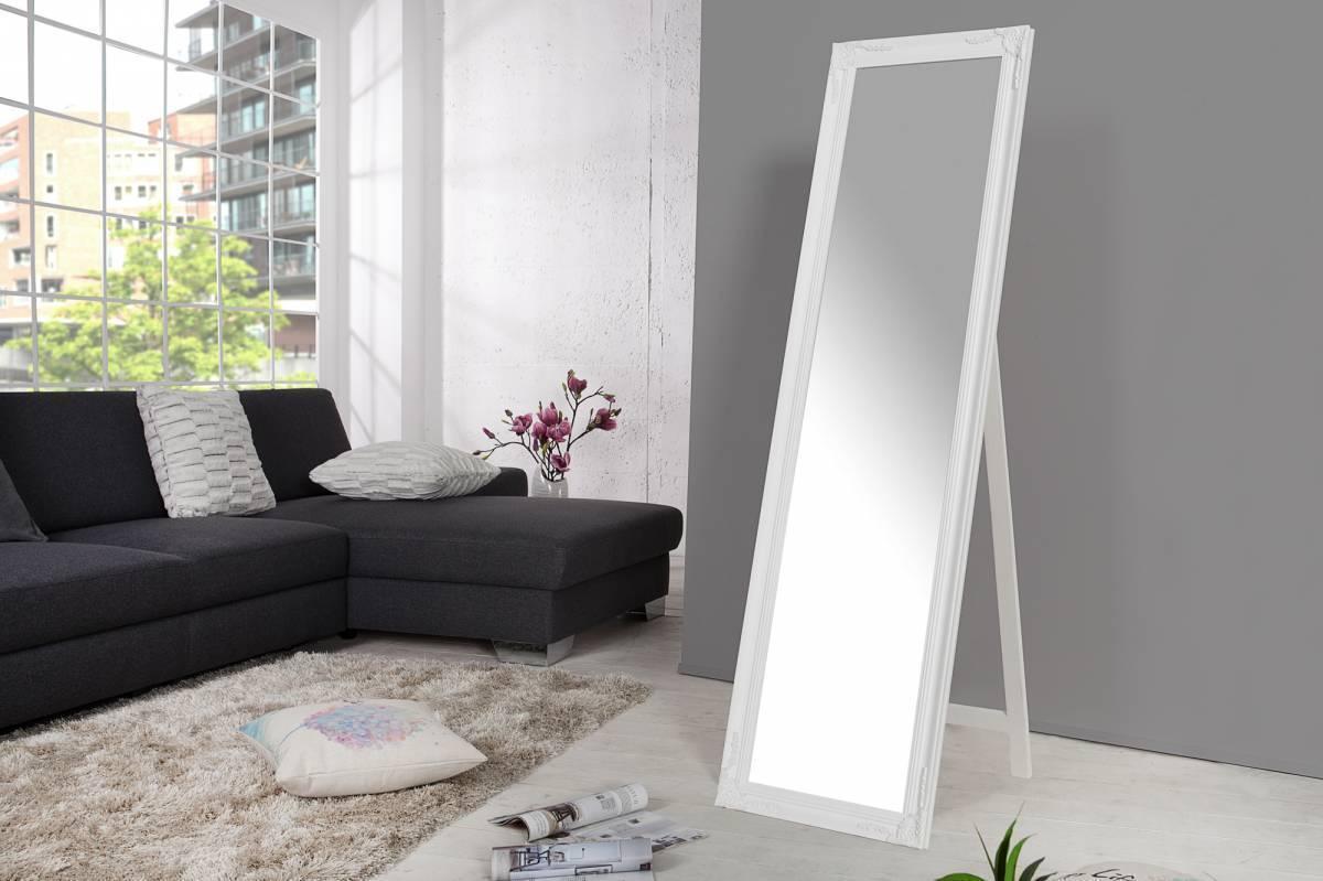 Zrkadlo stojace VERSAIL 160x45cm - biela