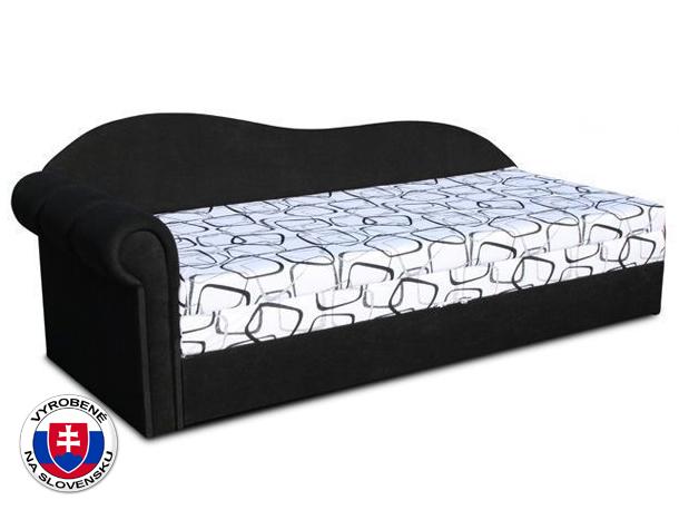Jednolôžková posteľ (váľanda) 70 cm Luxus II (Čierna 39 + Dodo 1026) (L)