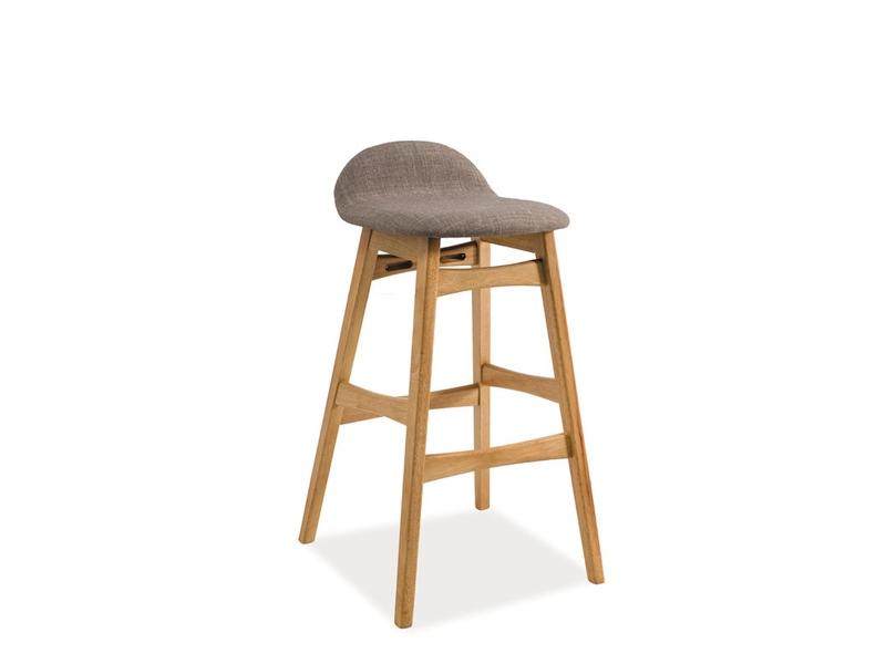 TRIDENT barová stolička, dub/sivá