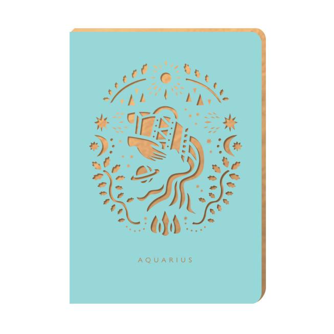 Linajkový zápisník Portico Designs Vodnár, 160stránok