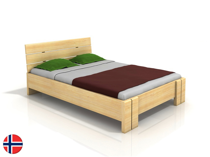 Manželská posteľ 200 cm Naturlig Tosen High BC (borovica) (s roštom)