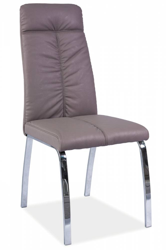 Jedálenská stolička Igor (ekokoža tmavobéžová)