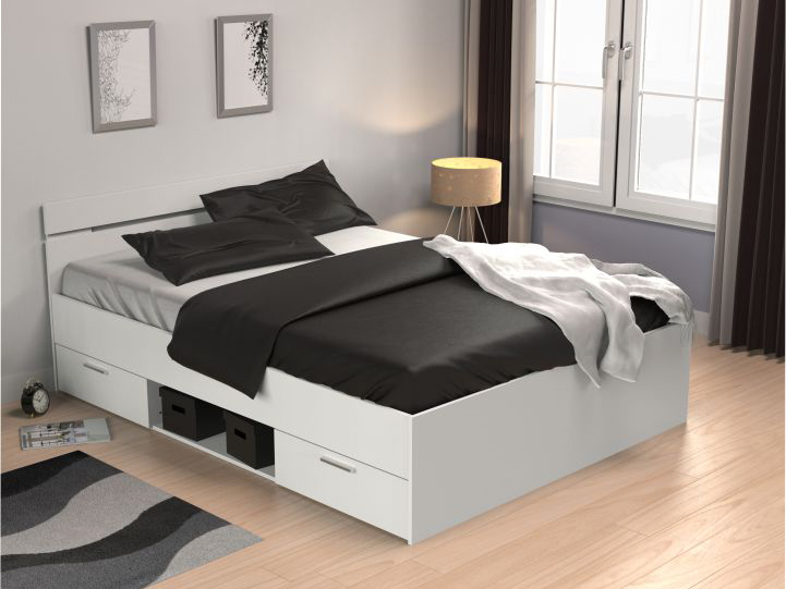 Manželská posteľ 160 cm Michigan (biela)