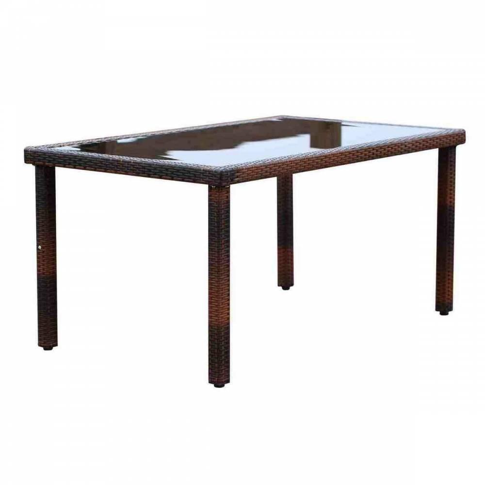 Sharks SA137 Ratanový stôl Loira, 150 x 90 x 74 cm