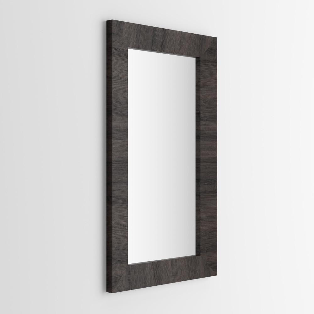 Zrkadlo v dekore tmavého duba MobiliFiver Giuditta, 65x110cm