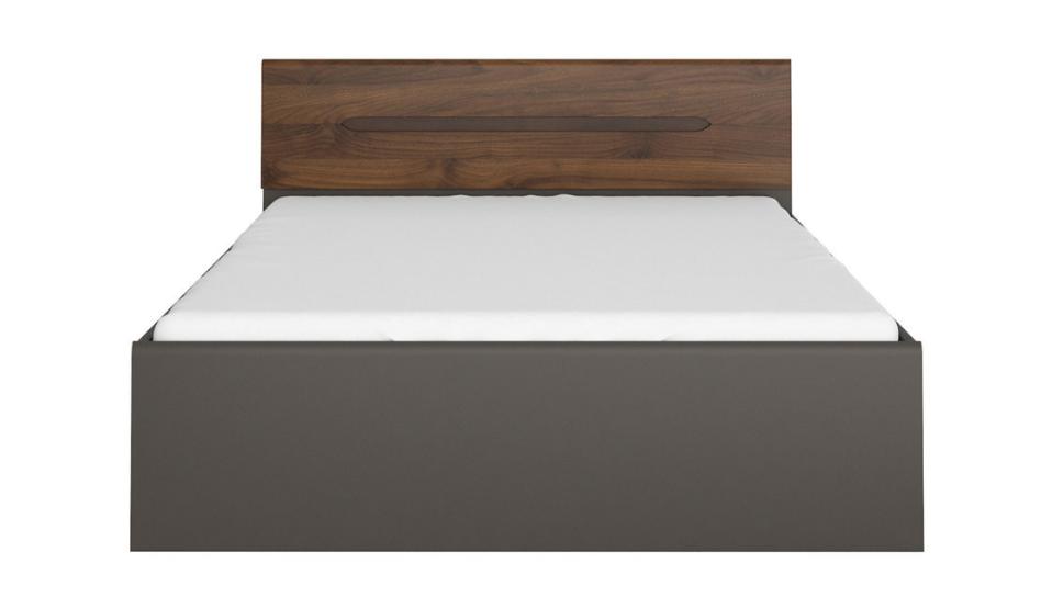 Manželská posteľ Elpasso LOZ/160   Farba: šedý wolfram / orech columbia