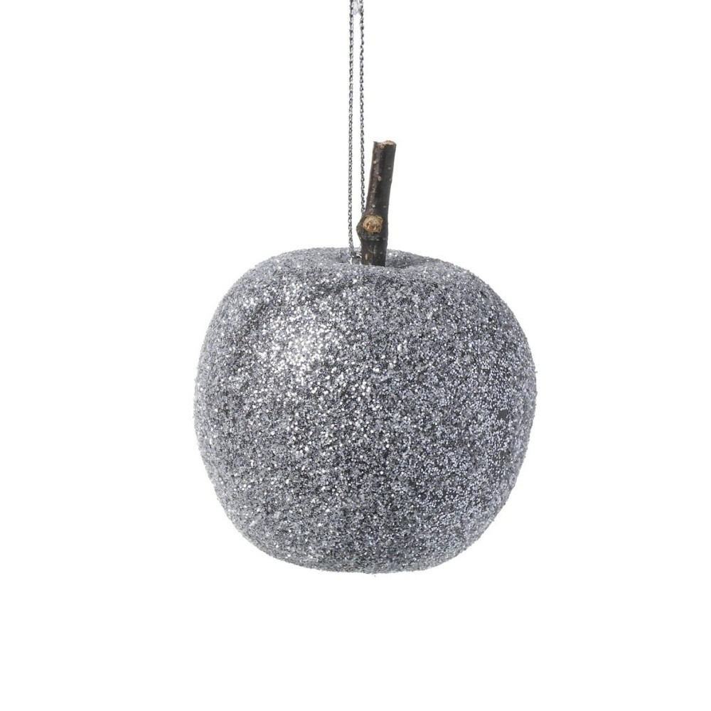 Sivá vianočná ozdoba Parlane Frosted