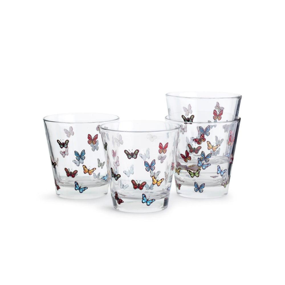 Sada 4 pohárikov Sagaform Butterflies, 200 ml