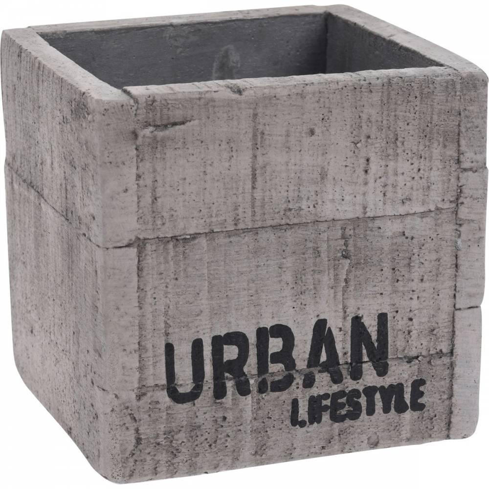 Cementový obal na kvetináč Urban lifestyle, 12 x 11,5 cm