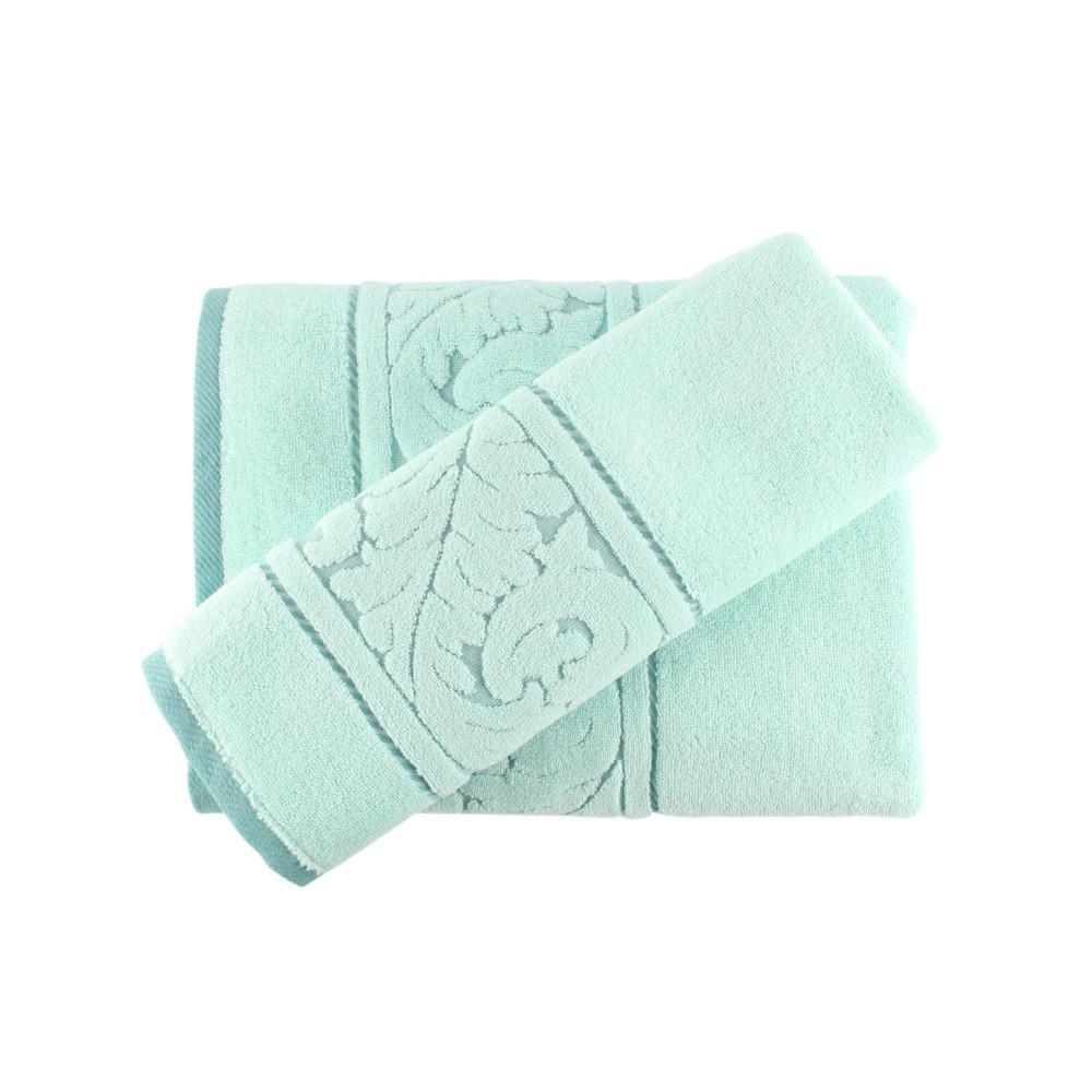 Sada mentolovozeleného uteráka a osušky Sultan