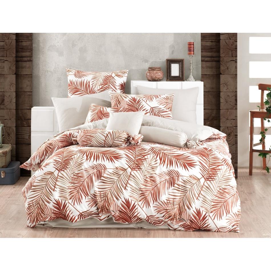 BedTex Bavlnené obliečky Palms Brown, 140 x 200 cm, 70 x 90 cm