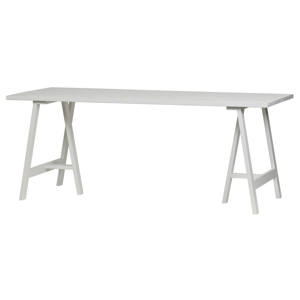 Biela doska k jedálenskému stolu z jaseňového dreva vtwonen Panel, 190 x 80 cm