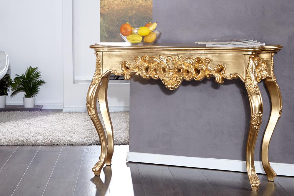 Toaletný stolík VENICE GOLD - zlatá