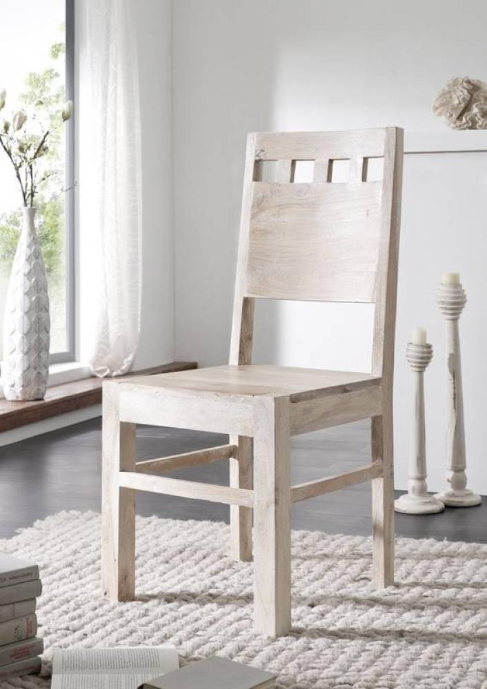 NATURE WHITE stolička #120 lakovaný agátový nábytok