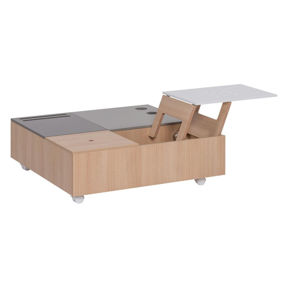 Multifunkčný konferenčný stolík na kolieskach s úložnými priestormi Vox Custom