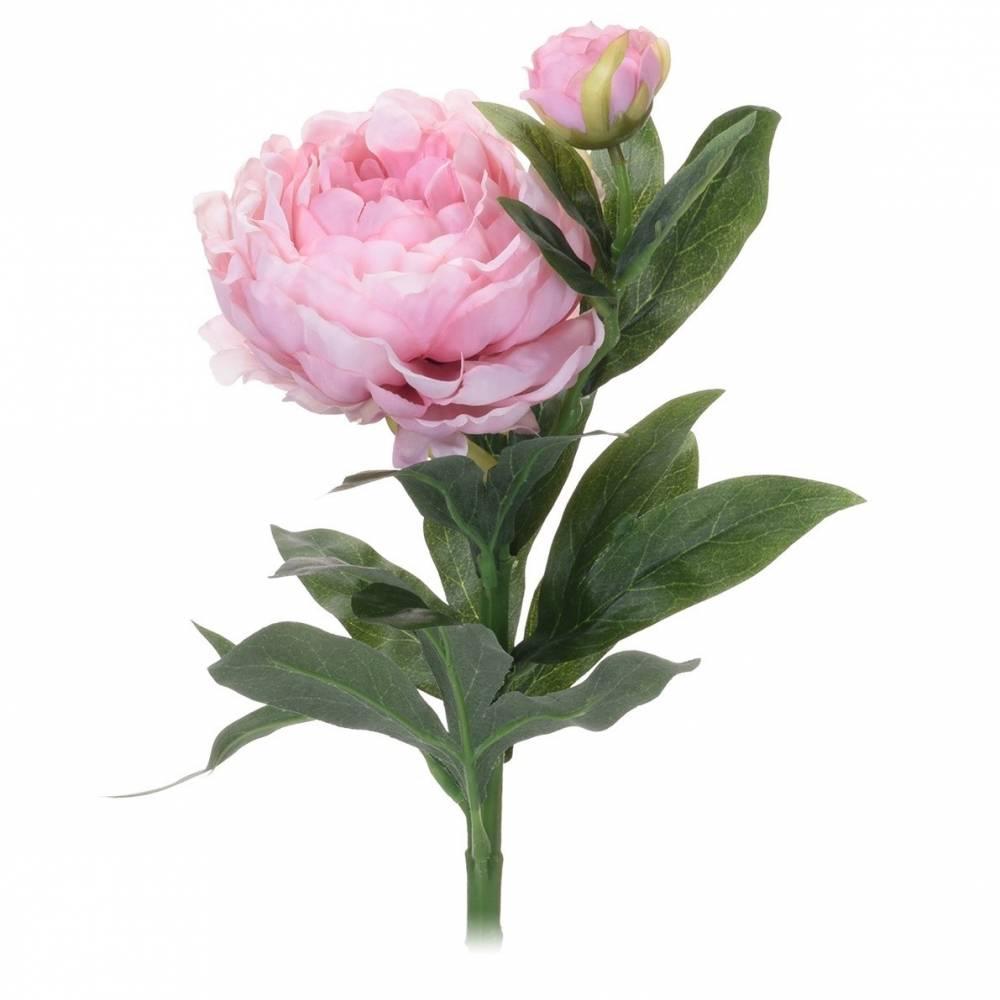 Koopman Umelá kvetina Pivonka svetloružová, 61 cm