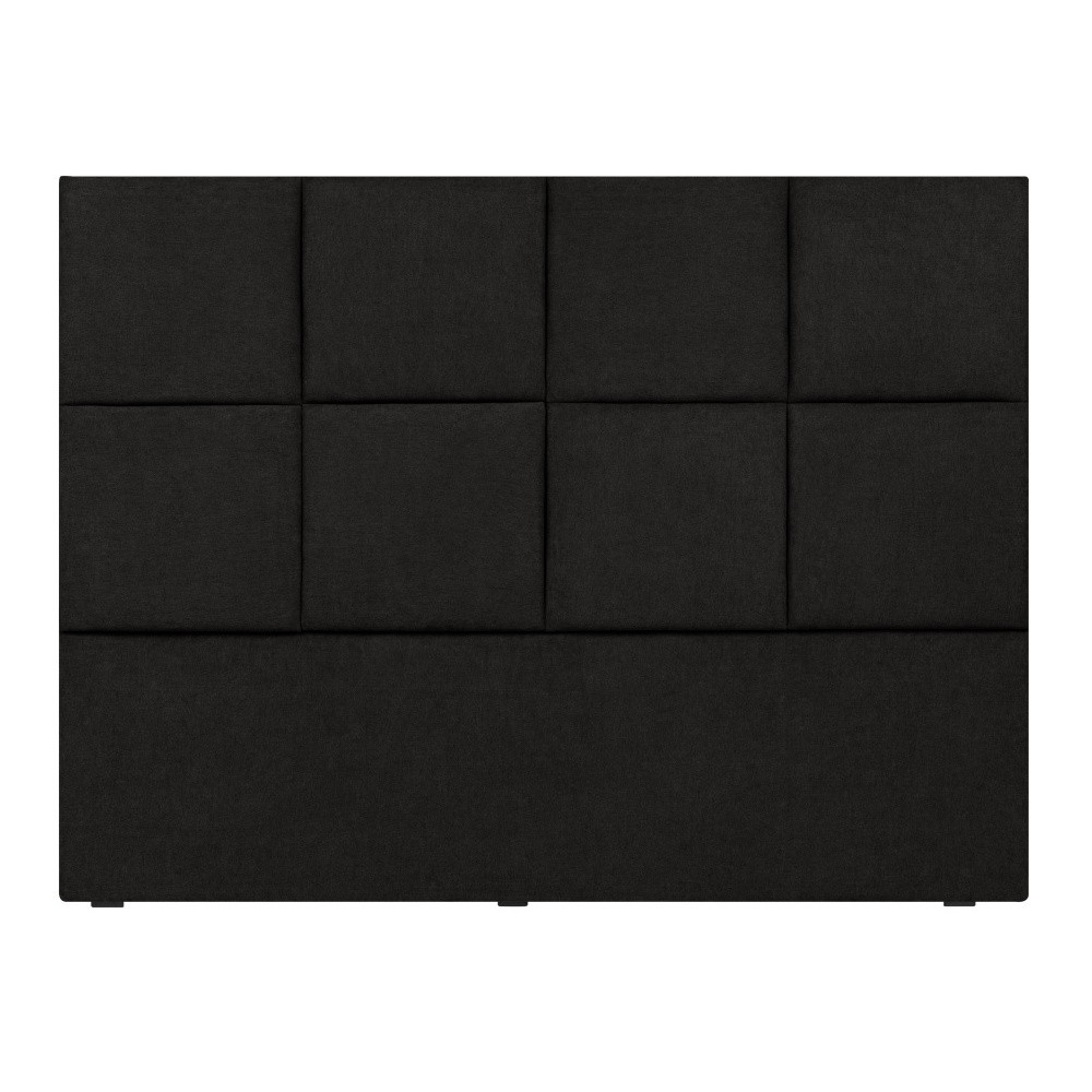 Čierne čelo postele Mazzini Sofas Barletta, 200×120cm