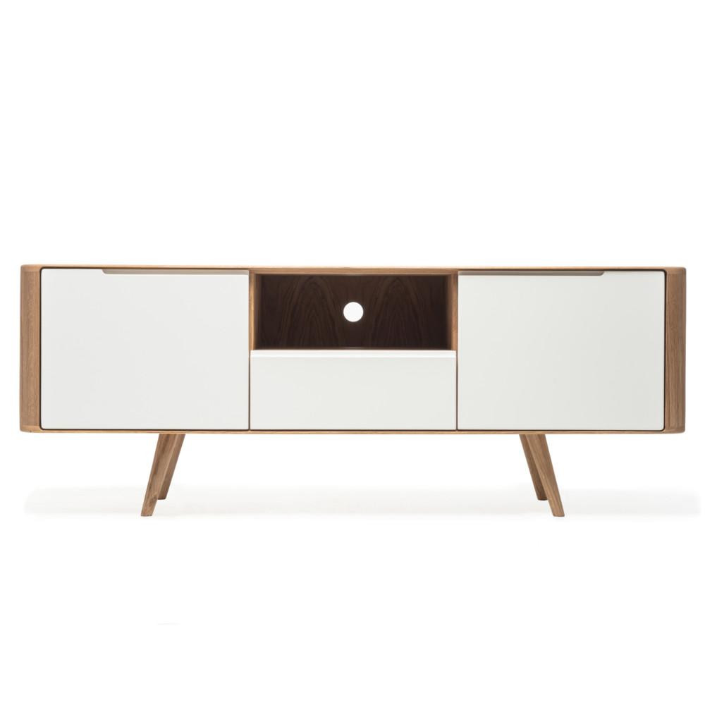 Televízny stolík z dubového dreva Gazzda Ena Two, 160 x 42 x 60 cm