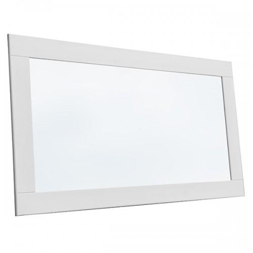 Biely nábytok Zrkadlo Belluno Elegante 130 x 60 cm, biela, borovica, masív