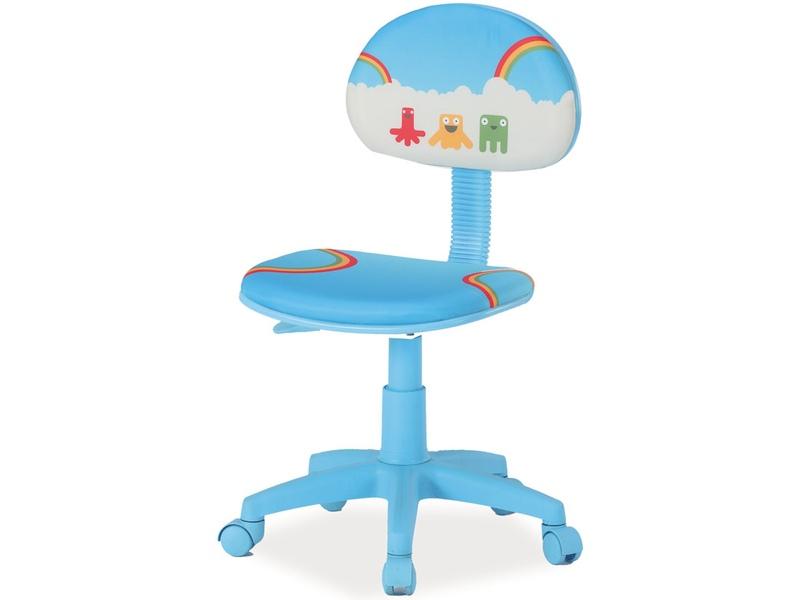 Detská stolička Hop (modrá + vzor)