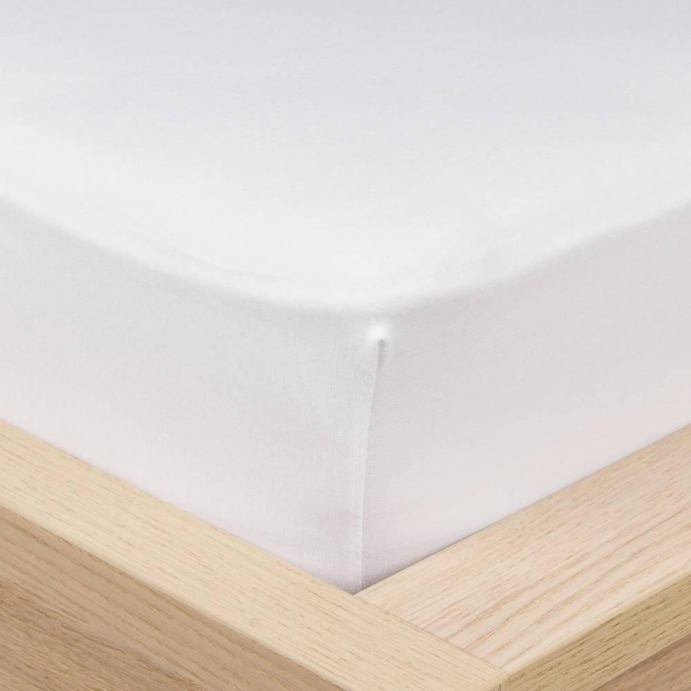 4Home Jersey prestieradlo s elastanom biela, 180 x 200 cm